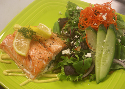 Lotus Leaf Cafe Salmon